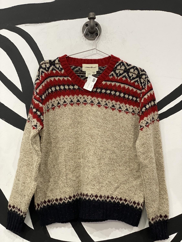 Eddie Bower Tan Sweater Size Small