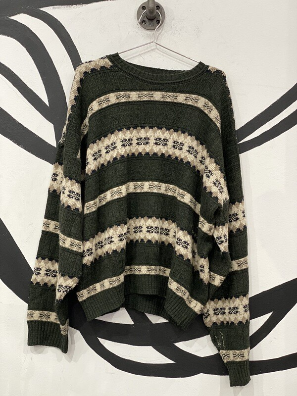 David Taylor Green Sweater Size 2XL