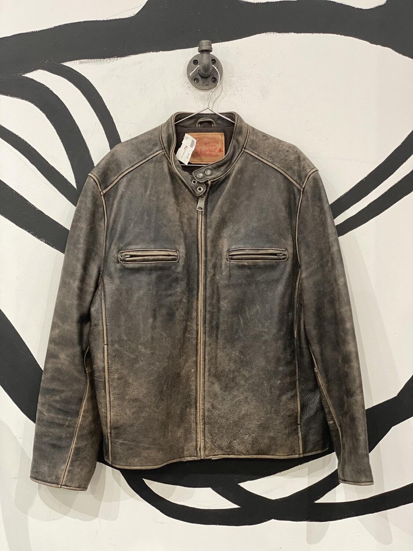 Levi's Genuine Leather Moto Racer Jacket Size L