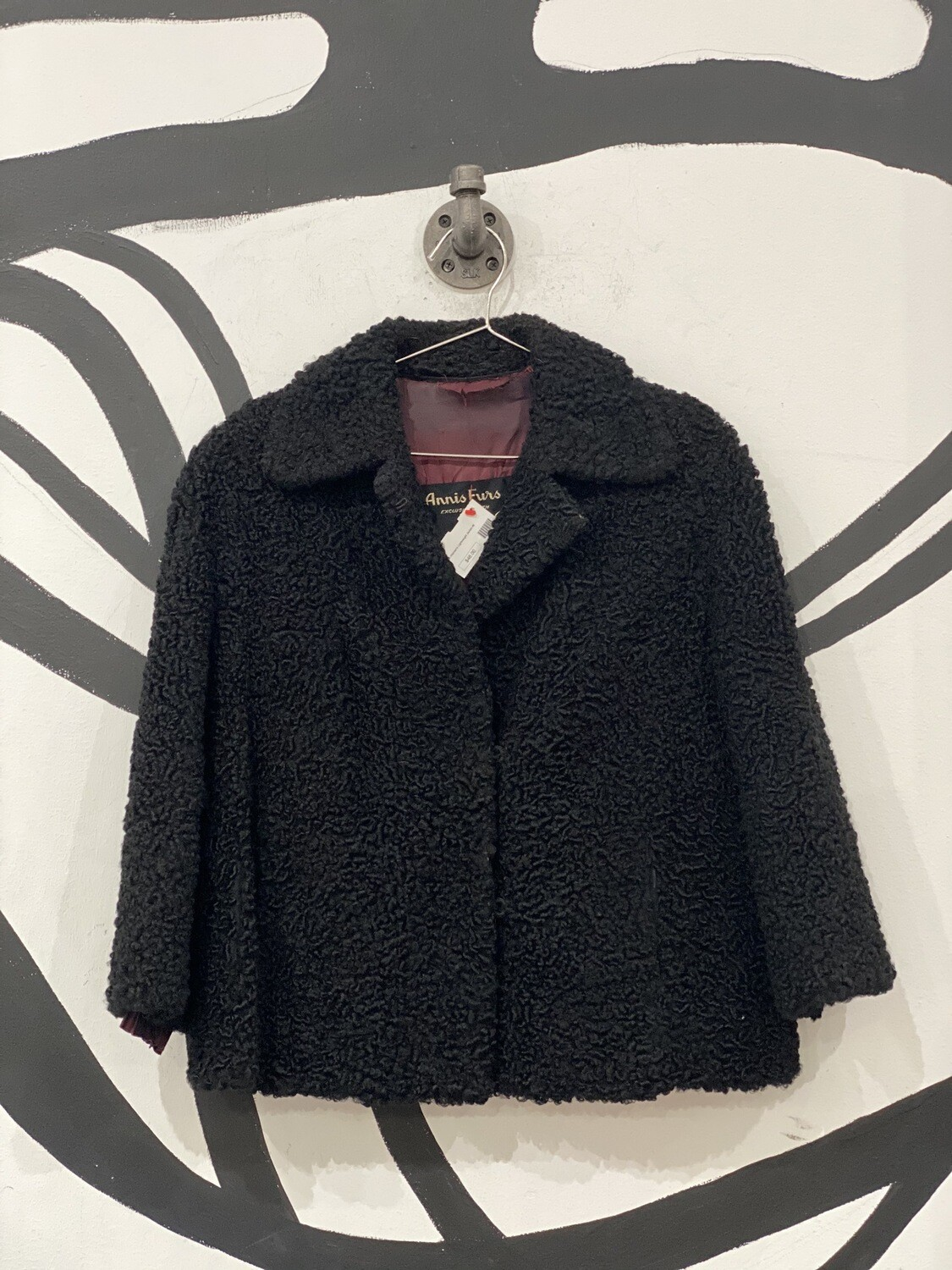 Annis Furs Curled Overcoat Size M