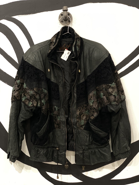 Winlit Retro Lace Detail Suede Jacket Size M