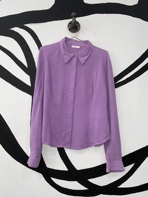 Lilac Silk Linea Button Up Size M