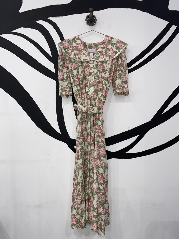 E.D. Michaels Darling Floral Midi Dress Size L