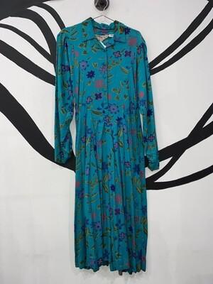 Blue Floral Bila Of California Dress Size M