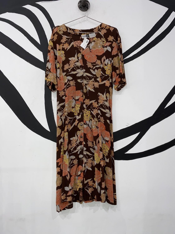 Autumn Floral Club Z Dress Size L
