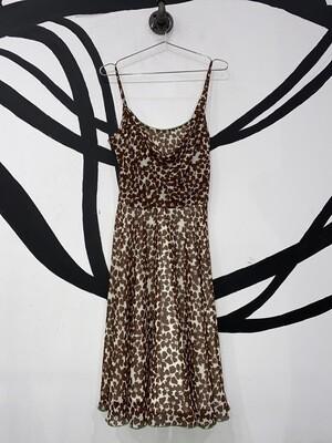 Brown Floral A.B.S Dress Size M
