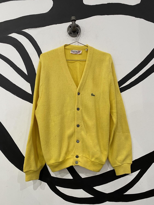 Yellow Izod Cardigan Size M