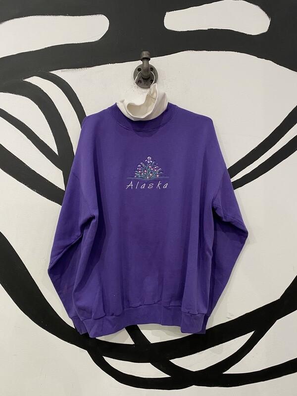 Alaska Embroidered Turtleneck Crewneck Size L