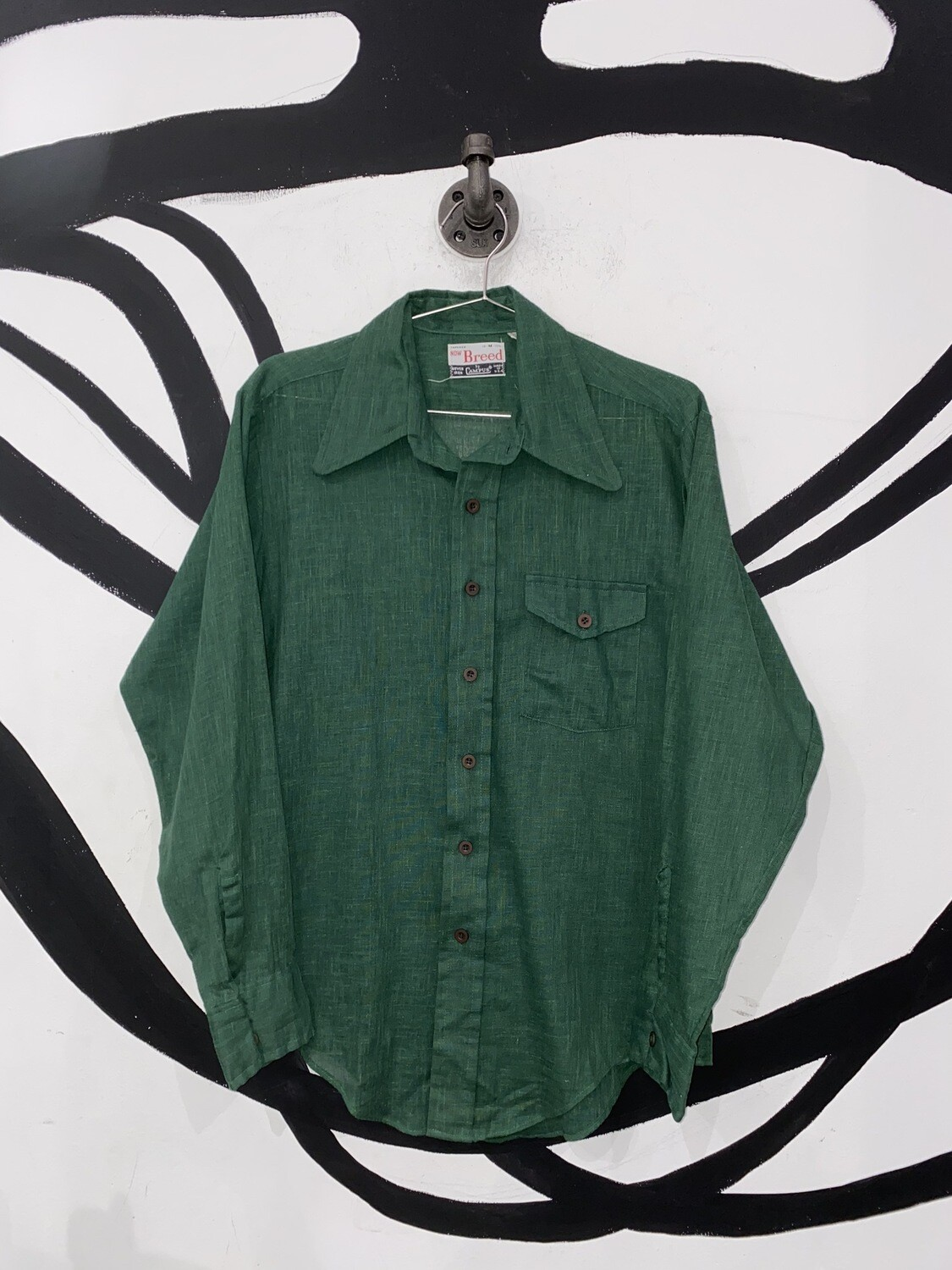 Green Lightweight Button Up Size M
