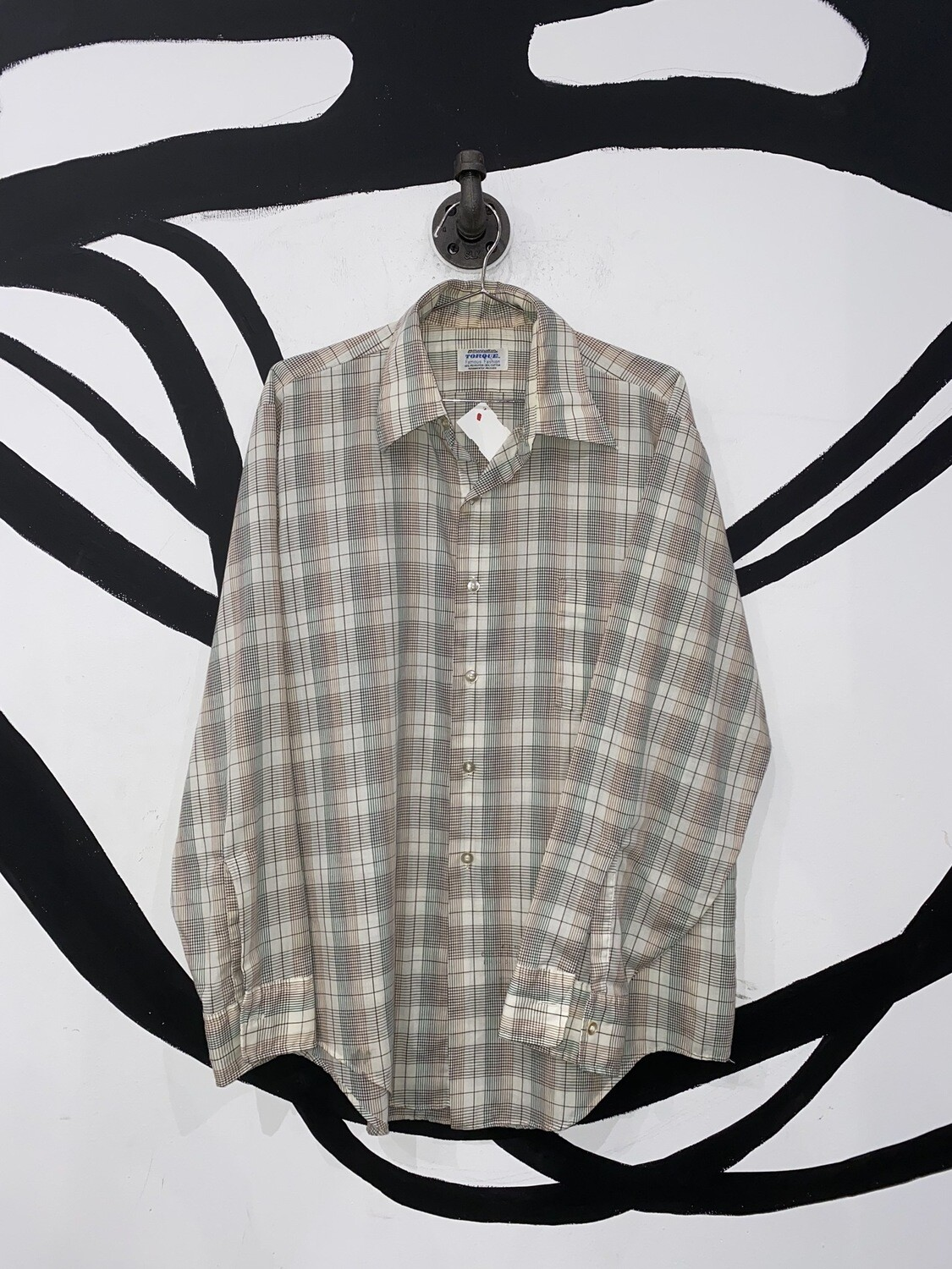 Green And Brown Plaid Button Up Size S