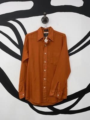 Burnt Orange Button Up Size S