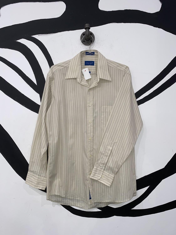 Cream Striped Button Up Size M