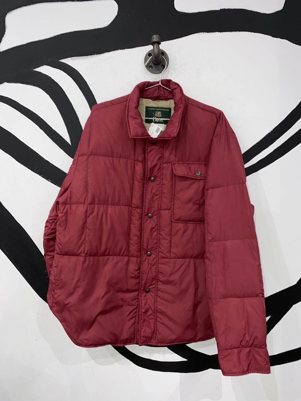 Red Puffy Orvis Sportswear Jacket Size M