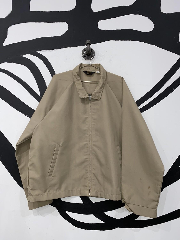 Beige Zip Up Jacket Size L