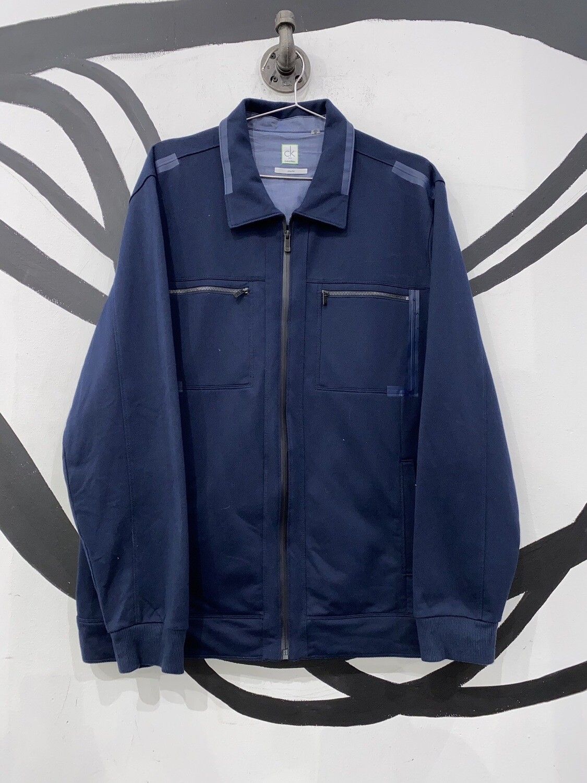 Navy Calvin Klein Slim Fit Zip Up Size L