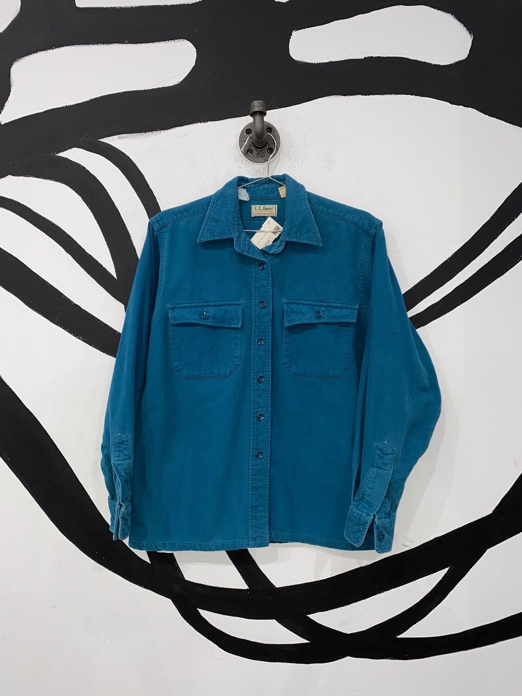 Teal L.L. Bean Flannel Size S
