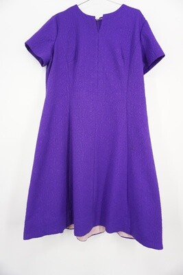 Lorac Vintage Purple Dress With Attached Scarf Size 20