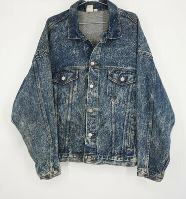 Acid Wash Denim Jacket Size XL