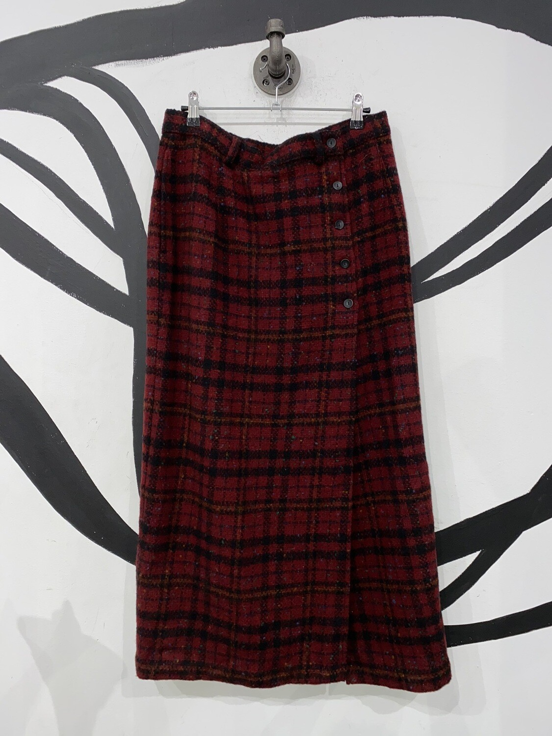 Woolrich Red Plaid Skirt Size L