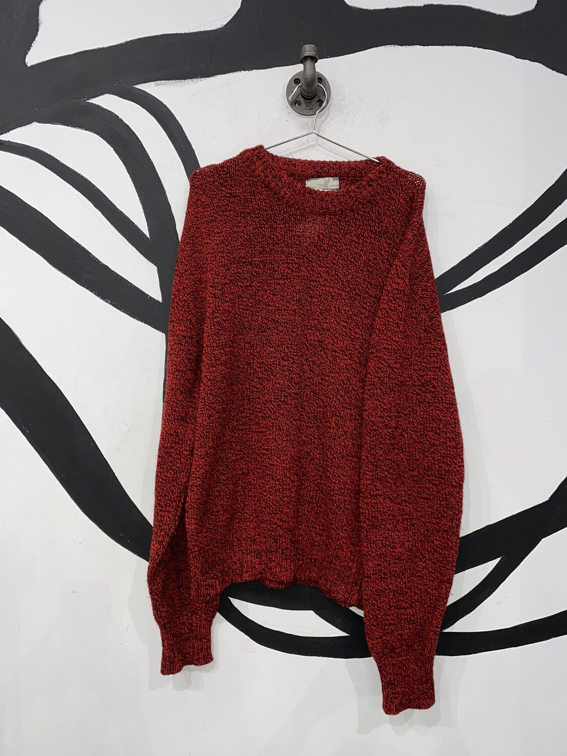 Tidewater Traders Red Knit Sweater Size L