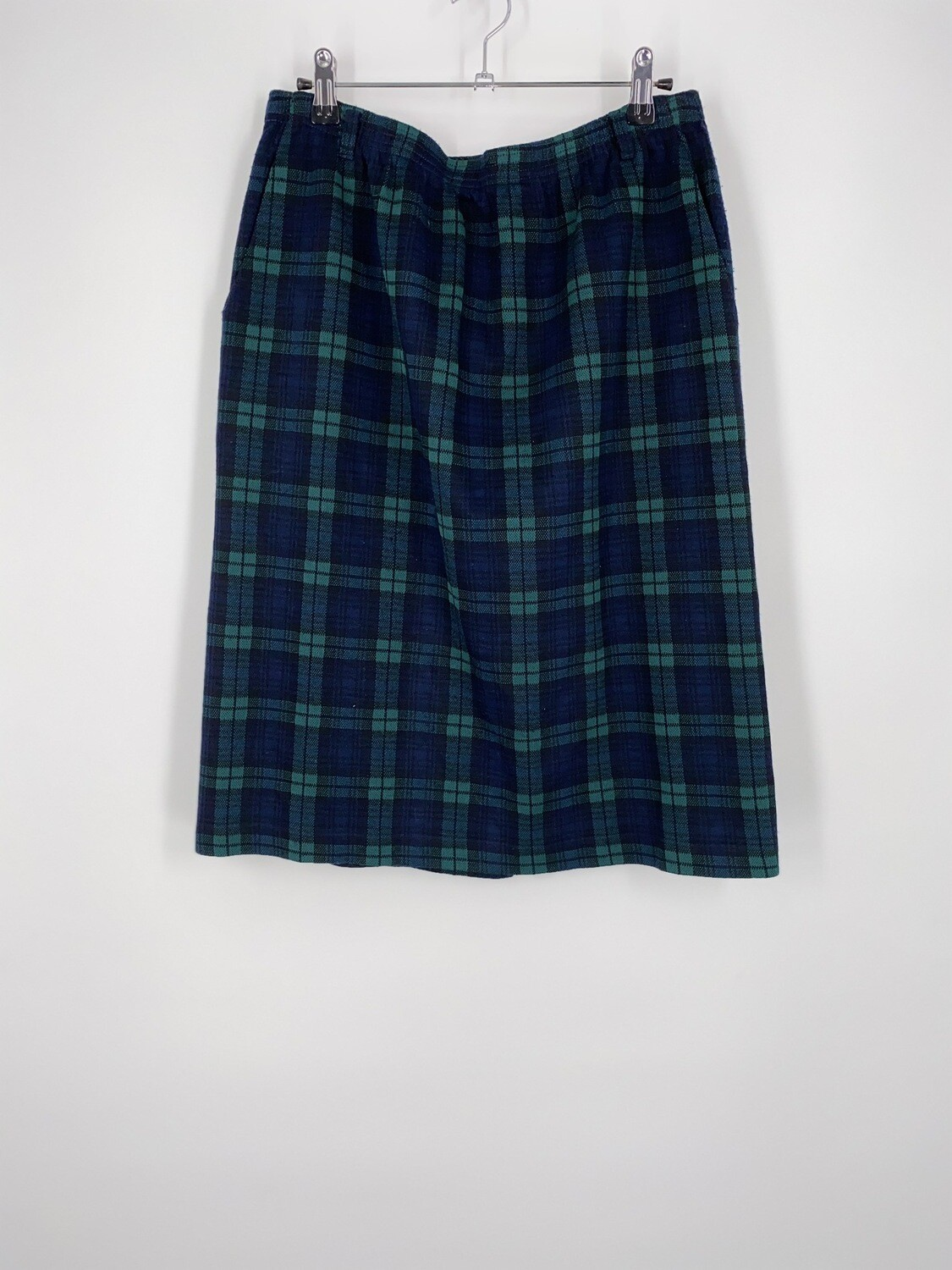 Alfred Dunner Green Plaid Skirt Size L