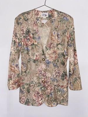D.J. Summers Paisley Floral Blazer Size M