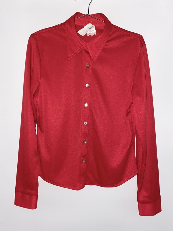 Tricia Red Button Up Size S