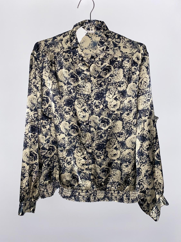 Russ Floral Bring Button Up Blouse Size L
