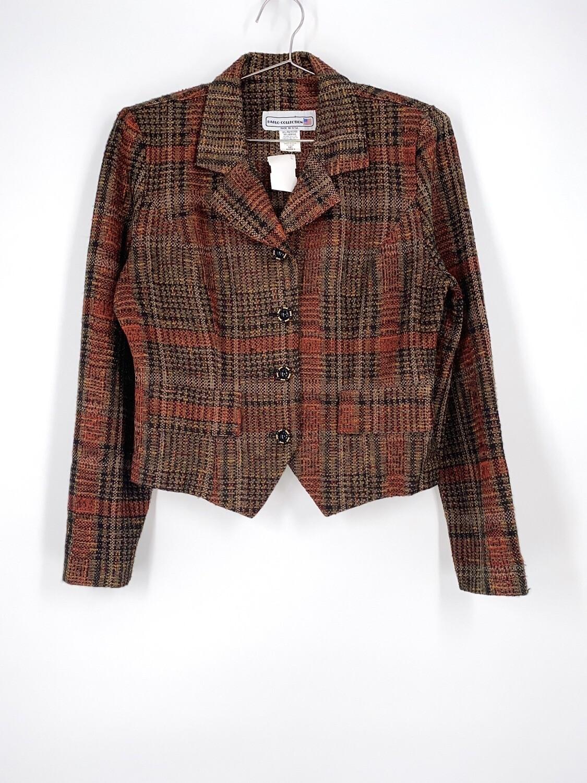 Plaid Cropped Blazer Size M