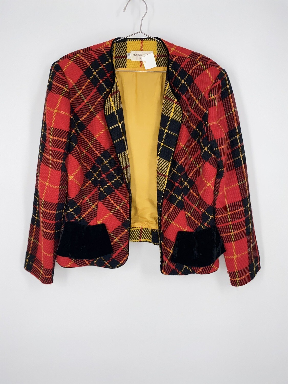 Wool Plaid Blazer Size M
