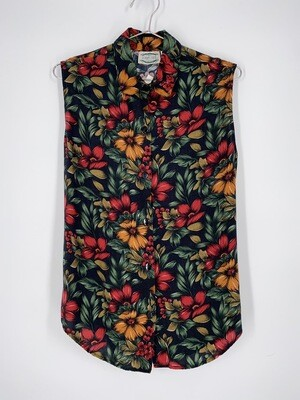 Floral Sleeveless Top Size S