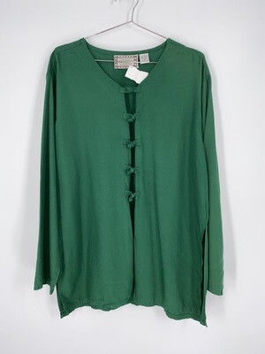 Green Knot And Loop Closure Top Size S
