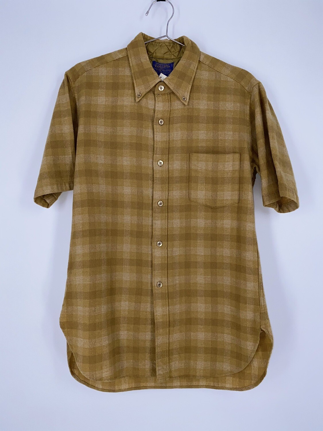 Yellow Pendleton Short Sleeve Flannel Size S