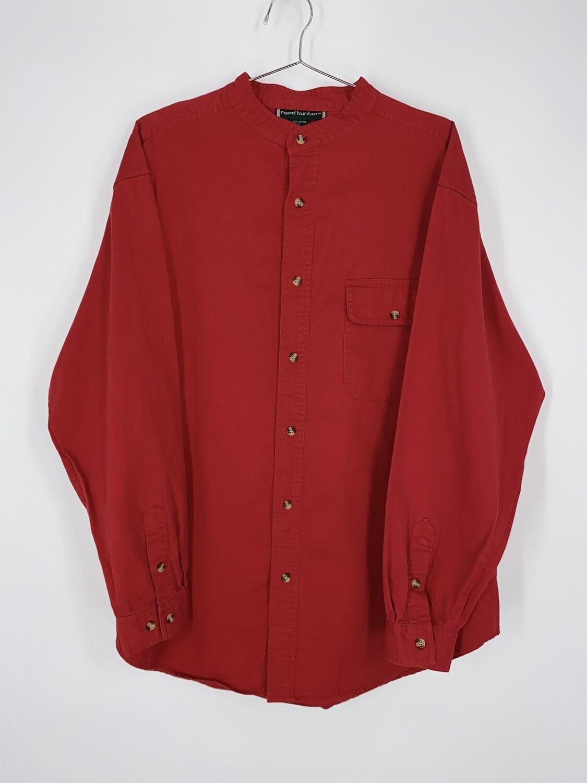 Reed Hunter Mandarin Collar Button Up Size L