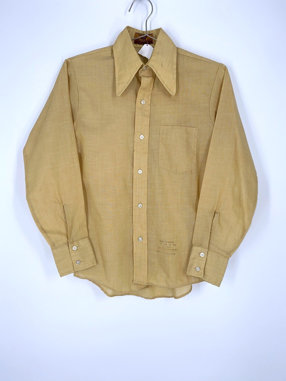 417 Van Heusen Lemon Yellow Button Up Size S