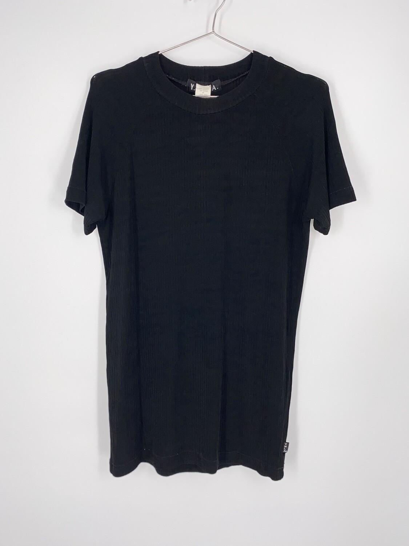 YMLA Ribbed black Short Sleeve Top