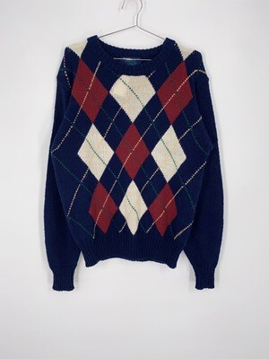 Arrow Blazer Collection Argyle Print Sweater Size M