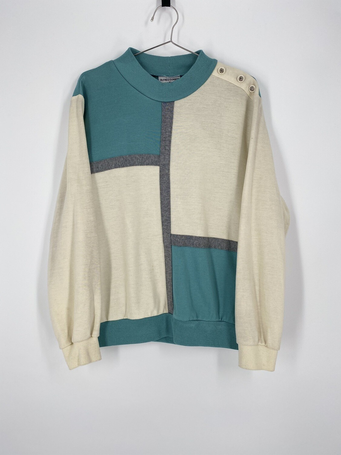 Alfred Dunner Color Blocked Sweater Size M