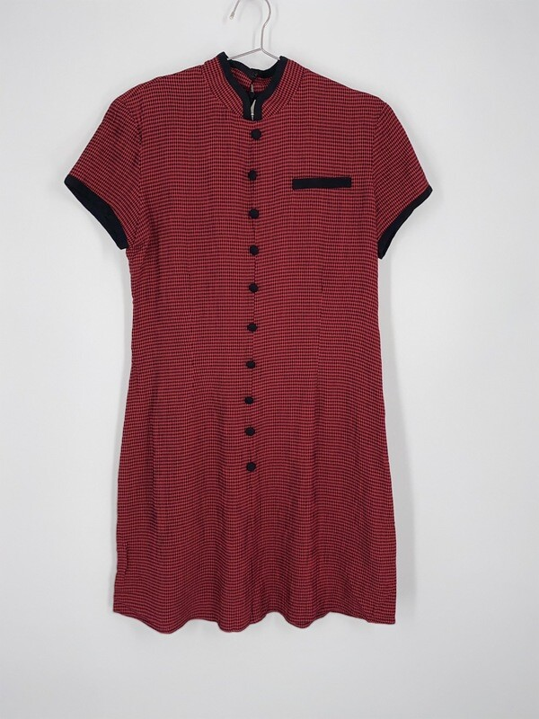 Jessica Howard Red Checkered Dress Size S