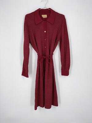 Horizontal Stripe Tie Dress Size M