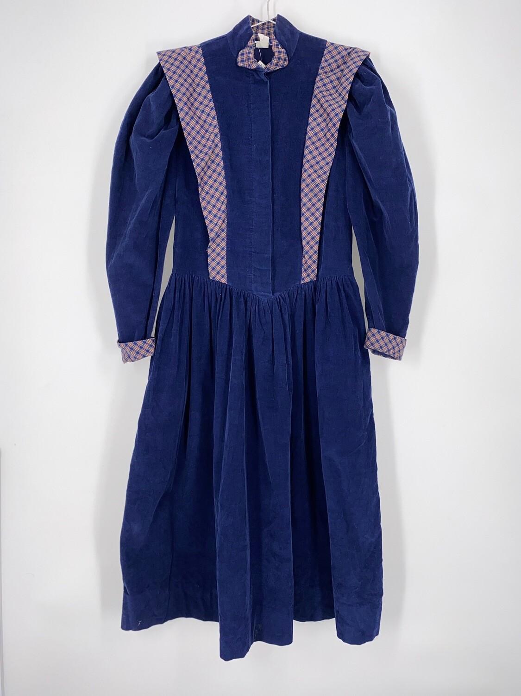 Puff Sleeve Corduroy Dress Size M