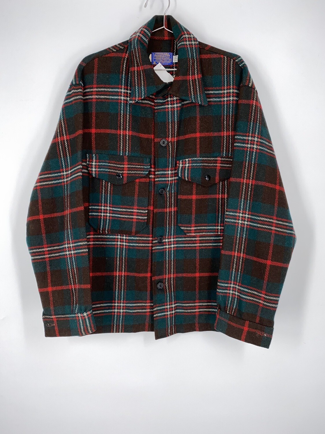 Red And Green Pendleton Flannel Size M