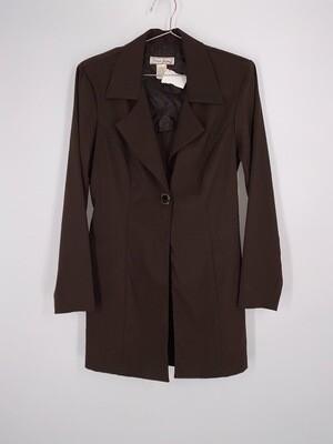 Brown Long Line Blazer Size S