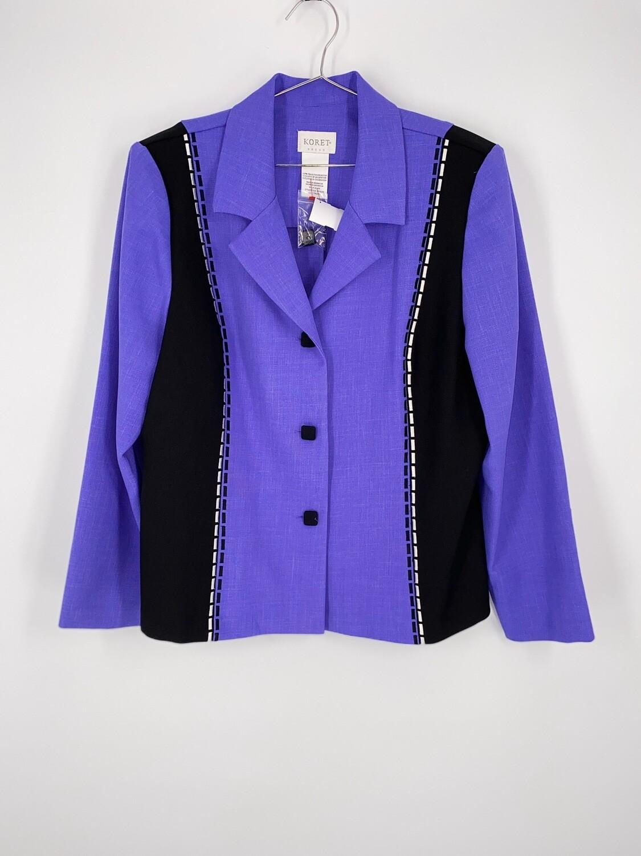 Purple Square Button Blazer Size M