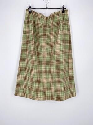 Green Plaid Skirt Size L