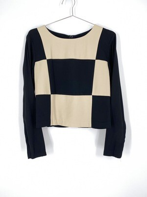 Checkerboard Long Sleeve Top Size M