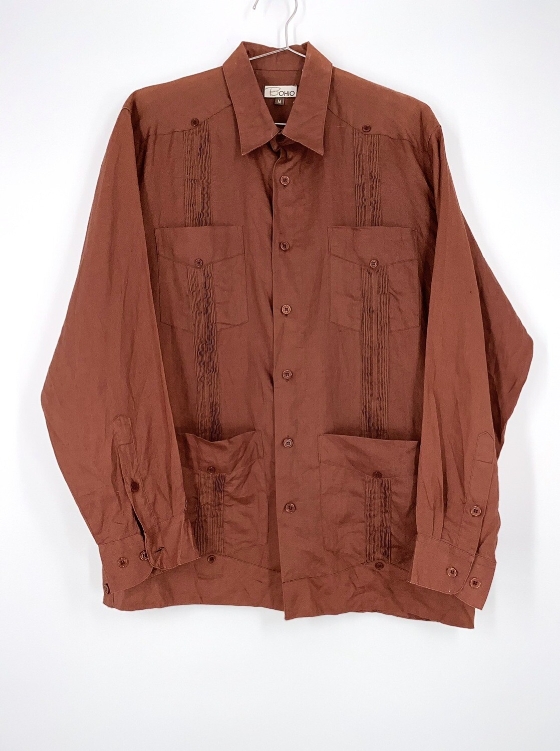 Rust Colored Button Up Size M