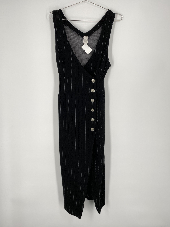 Pinstripe Belted Back Sleeveless Size M