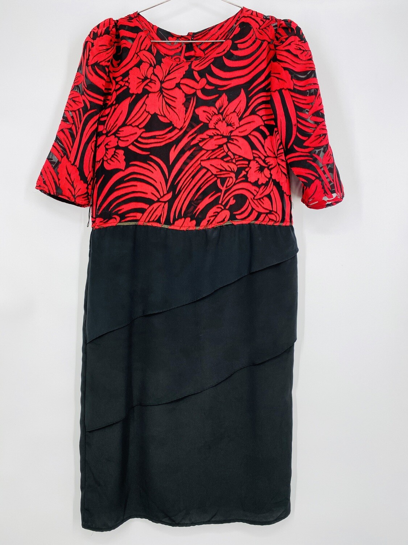 Sheer Top Dress By Jenny's Fashion Size M