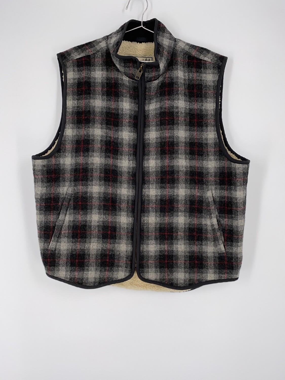 L.L. Bean Plaid Vest Size L